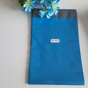 """25 Strong Blue Poly Mailers 7.5""""x10.5"""" in"""
